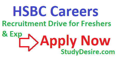 HSBC Careers 2020 | Recruitment Drive for Freshers & Exp Jobs Apply